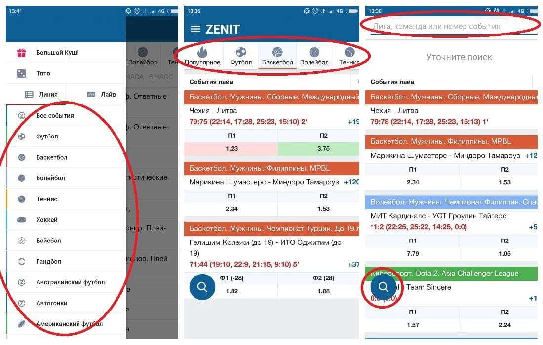 Обзор приложения от БК Zenit