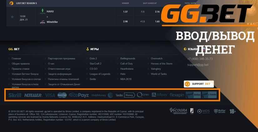 Особенности кэшаутов в GGBet ggbet