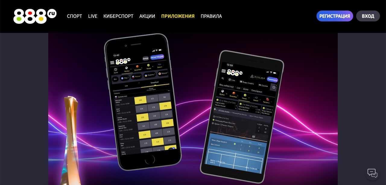 Мобильное приложение 888 БК